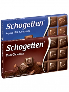 Alpine Milk & Dark Chocolates,(Pack of 2) (Schogetten,Germany))