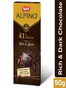 Nestle ALPINO 41% Cocoa- Rich and Dark Chocolate 90gm.