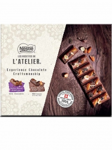 Nestlé LES RECETTES DE L'Atelier Swiss Chocolate Gift Pack - 300g. (Pack of 3 Tablets)