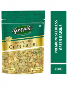 Premium Seedless Green Raisins (Happilo, Bangaluru)