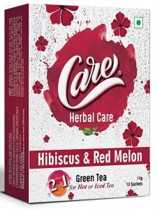 Herbal Care Hibiscus & Red Melon Green Tea ( Care, Rajkot)