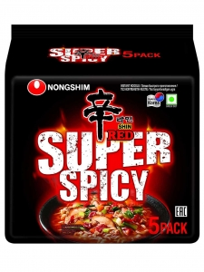 Red Super Spicy Noodle ( Nongshim , South Korea )