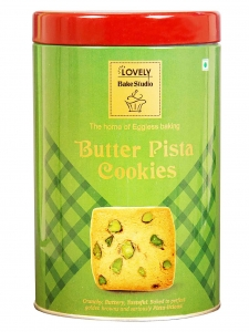Butter Pista Cookies Tin Box (Lovely Sweets, Jalandhar)