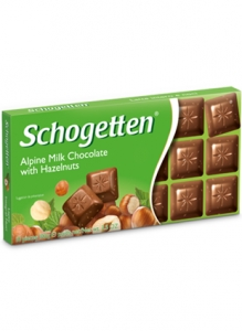 Alpine Milk Chocolate with Hazelnuts (Schogetten,Germany)