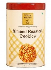Almond Roasted Cookies Tin Box (Lovely Sweets, Jalandhar)