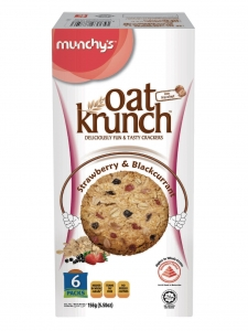 Oat Krunch Strawberry & Black Currant (Munchy's, Malaysia)